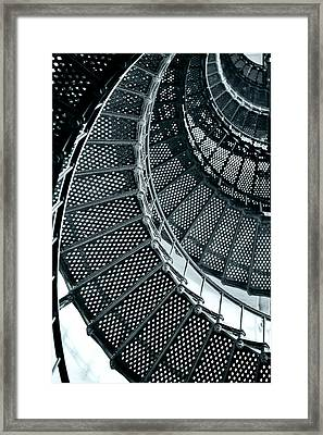 St Augustine Lighthouse Staircase Framed Print