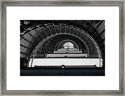 St Augustine Lighthouse Stairs Framed Print