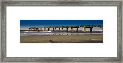 St. Augustine Pier Framed Print by Donnell Carr