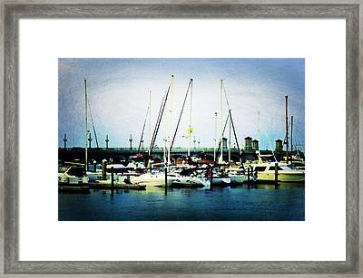 St. Augustine Sailboats Framed Print by Laurie Perry