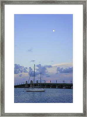 St. Augustine Sunset Framed Print by Laurie Perry