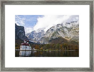 St. Bartholomew On Lake Konigssee Framed Print