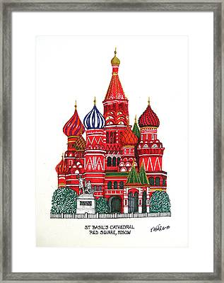 St Basil's Cathedral Framed Print by Frederic Kohli