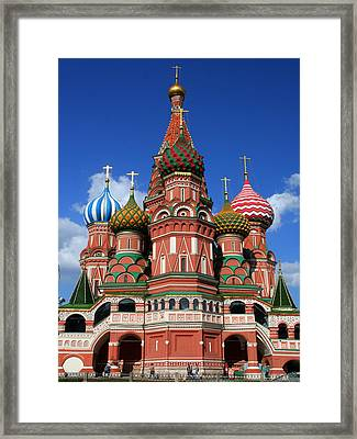 St. Basil's Cathedral Framed Print by Laurel Talabere