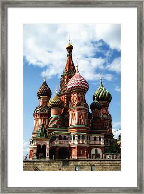 St. Basil's Cathedral Framed Print by Linda Dunn