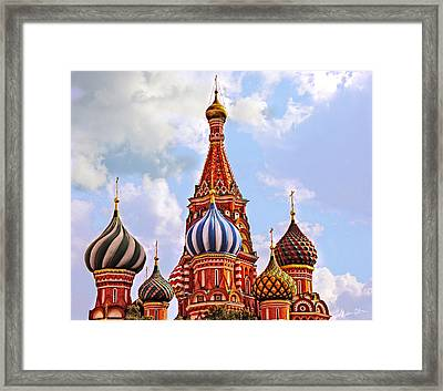 St. Basil's Cathedral - Moscow - Russia Framed Print