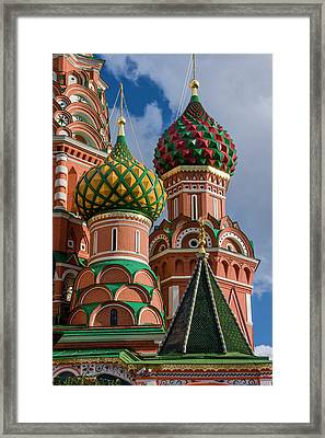 St Basil's Cathedral Red Square Unesco Framed Print