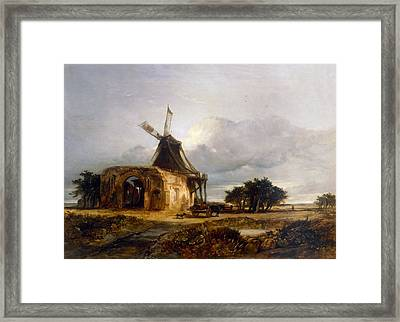 St Benets Abbey And Mill, Norfolk, 1833 Framed Print