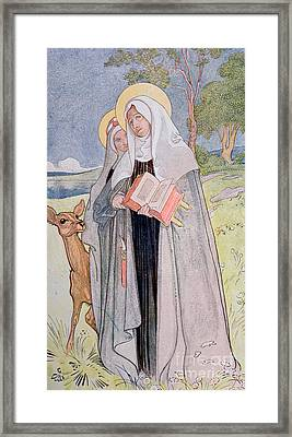 St Bridget Of Sweden Framed Print by Carl Larsson