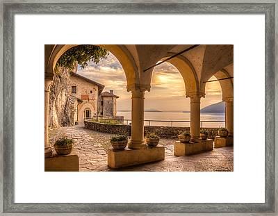 St. Catherine Monastery Framed Print by Nicola TOROSANTUCCI