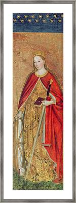 St. Catherine Of Alexandria, 1475 Oil On Panel Detail Of 197121 Framed Print by Ludovico Brea