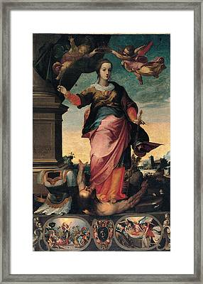 St Catherine Of Alexandria, 1570 - 1611 Framed Print by Il Sozzo
