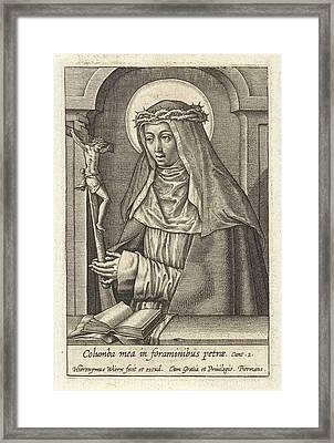 St. Catherine Of Siena, Hieronymus Wierix Framed Print