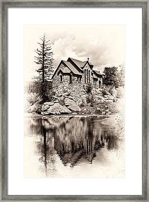 St. Catherine's Chapel Framed Print by Tyson and Kathy Smith