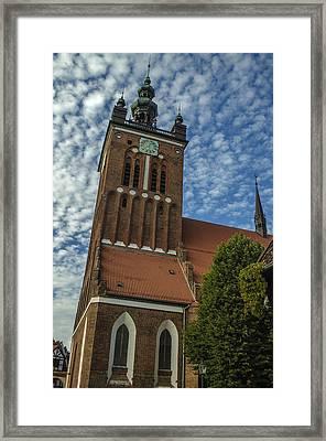 St. Catherine's Church In Gdansk Framed Print by Adam Budziarek