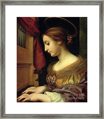 St. Cecilia Framed Print