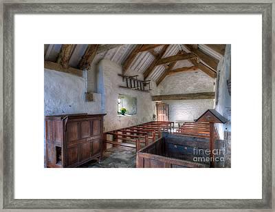 St Celynnin Interior Framed Print by Adrian Evans