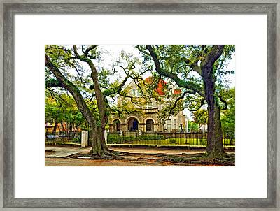 St. Charles Ave. Mansion Paint Framed Print by Steve Harrington