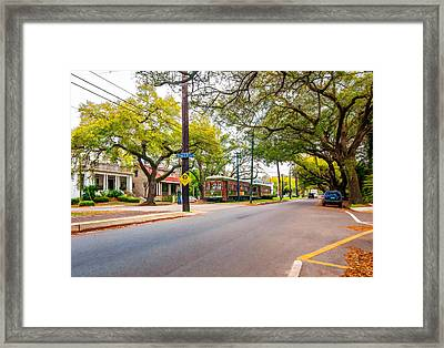 St. Charles Ave. Painted Framed Print by Steve Harrington
