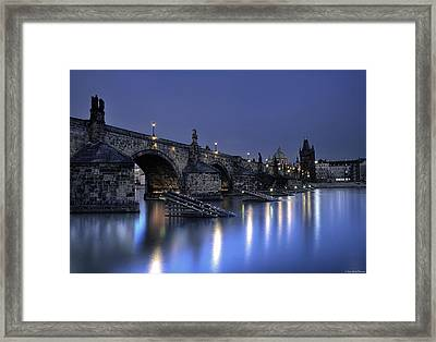 St Charles Bridge Framed Print by Ryan Wyckoff