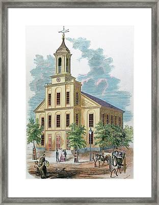 St Charles' Church Boston Framed Print by Prisma Archivo