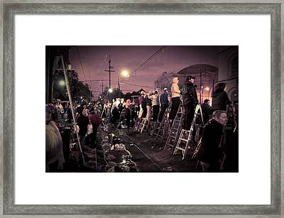 St Charles Night Parade Framed Print by Ray Devlin