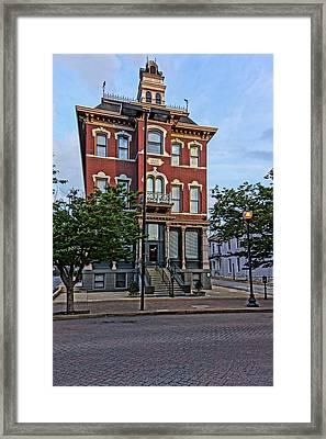 St. Charles Odd Fellows Hall Built In 1878 Dsc00810  Framed Print by Greg Kluempers