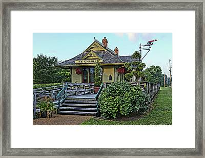 St Charles Station On The Katty Trail Look West Dsc00849 Framed Print