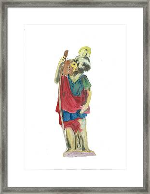 St. Christopher 4 Framed Print by Marko Jezernik
