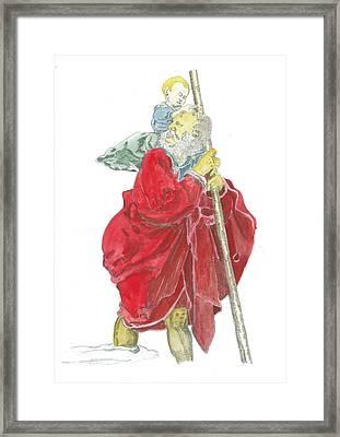 St. Christopher 5 Framed Print by Marko Jezernik