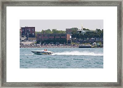 St. Clair Michigan Usa Power Boat Races-4 Framed Print by Paul Cannon