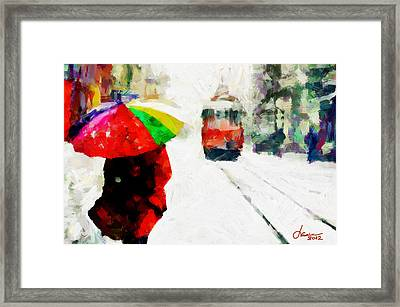 St. Clair Street Tnm Framed Print by Vincent DiNovici