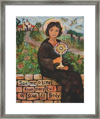St. Clare Of Assisi Framed Print by Jen Norton