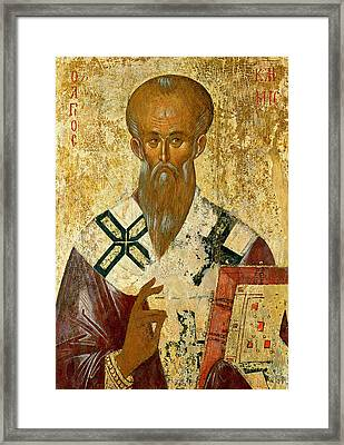 St. Clement Framed Print by Byzantine School
