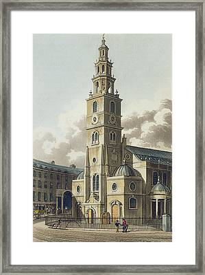 St. Clement Danes Church, Pub Framed Print