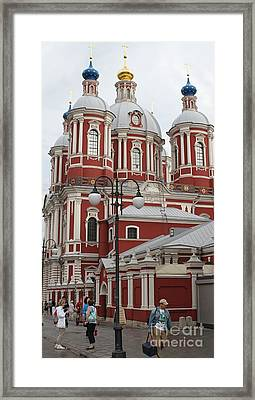 St Clement's Church In Moscow Framed Print by Anna Yurasovsky