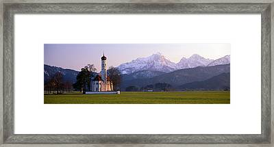 St Coloman Church And Alps Schwangau Framed Print by Panoramic Images