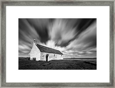 St Cwyfan's Church Framed Print by Dave Bowman