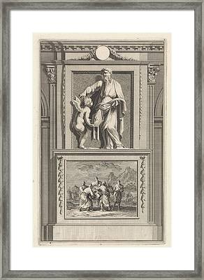St. Dionysius Of Alexandria, Church Father Framed Print by Jan Luyken And Zacharias Chatelain (ii) And Jan Goeree