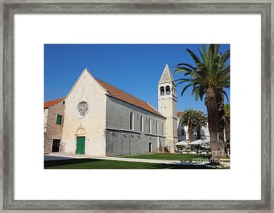 St Dominic Monastery In Trogir Framed Print by Kiril Stanchev