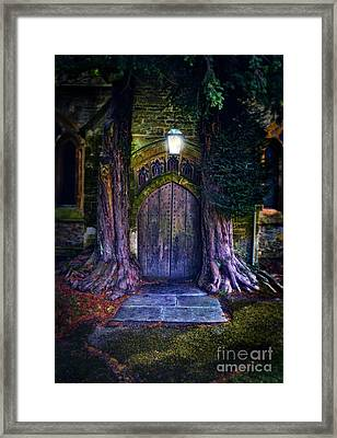 St Edwards At Stow On The Wold Framed Print by Jill Battaglia