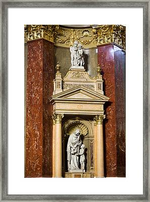 St Elizabeth Statue In Budapest Basilica Framed Print by Artur Bogacki