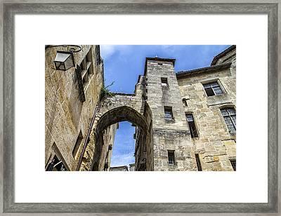 St Emilion Buildings Framed Print