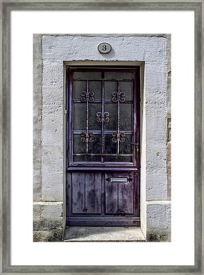 St Emilion Door Framed Print