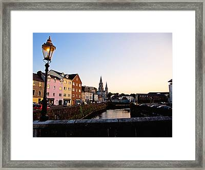 St Finbarrs Cathedral, River Lee South Framed Print by Panoramic Images