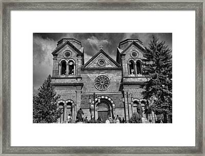 St. Francis Cathedral Basilica Study 5 Bw Framed Print