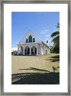 St Francis Church, Kalaupapa Town Framed Print by Douglas Peebles