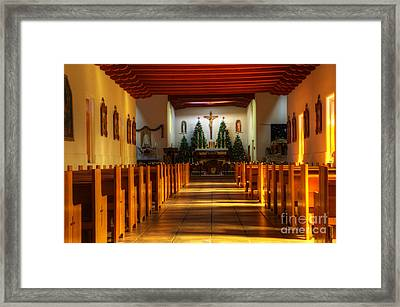 St Francis De Paula Mission Tularosa Framed Print by Bob Christopher