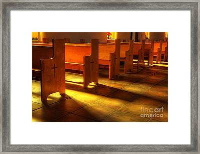 St Francis De Paula Shadow And Light Framed Print by Bob Christopher
