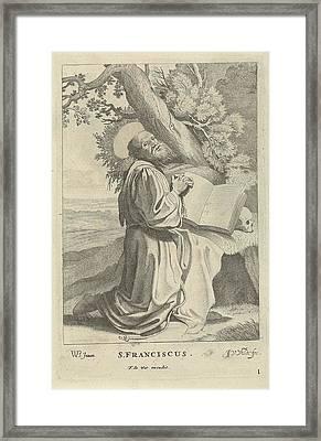 St. Francis, Jan Van De Velde II, Frederik De Wit Framed Print